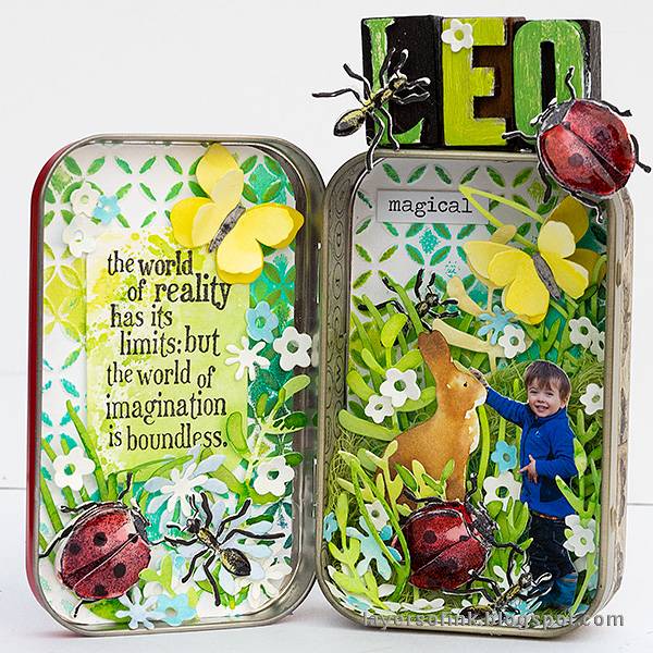 Layers of ink - Springtime Altered Tin Tutorial by Anna-Karin Evaldsson. With Sizzix dies by Tim Holtz.