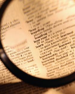 dictionnaire regardé à la loupe