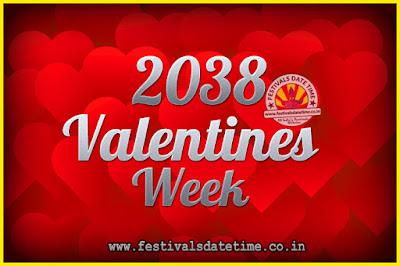 2038 Valentine Week List : 2038 Valentine Week Schedule, Hug Day, Kiss Day, Valentine's Day 2038