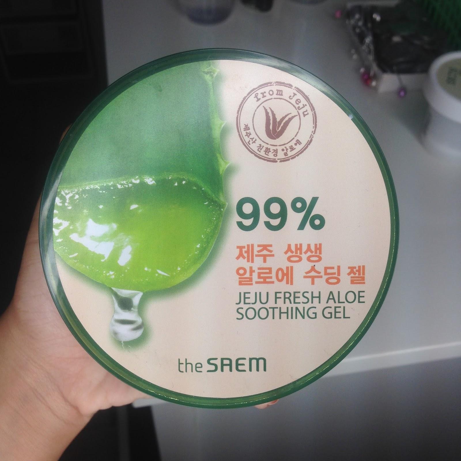 Beruntusan Hilang The Saem Jeju Fresh Aloe Soothing Gel Review
