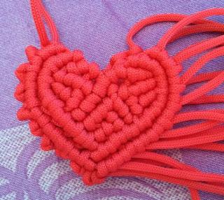 diy macrame heart, educational power creation