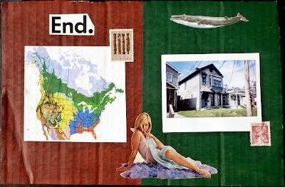 map whale polaroid postage stamp vintage nude collage