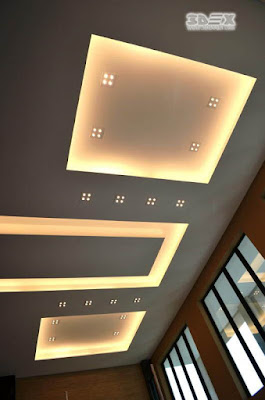 POP false ceiling design ideas for living room with indirect ceiling lighting