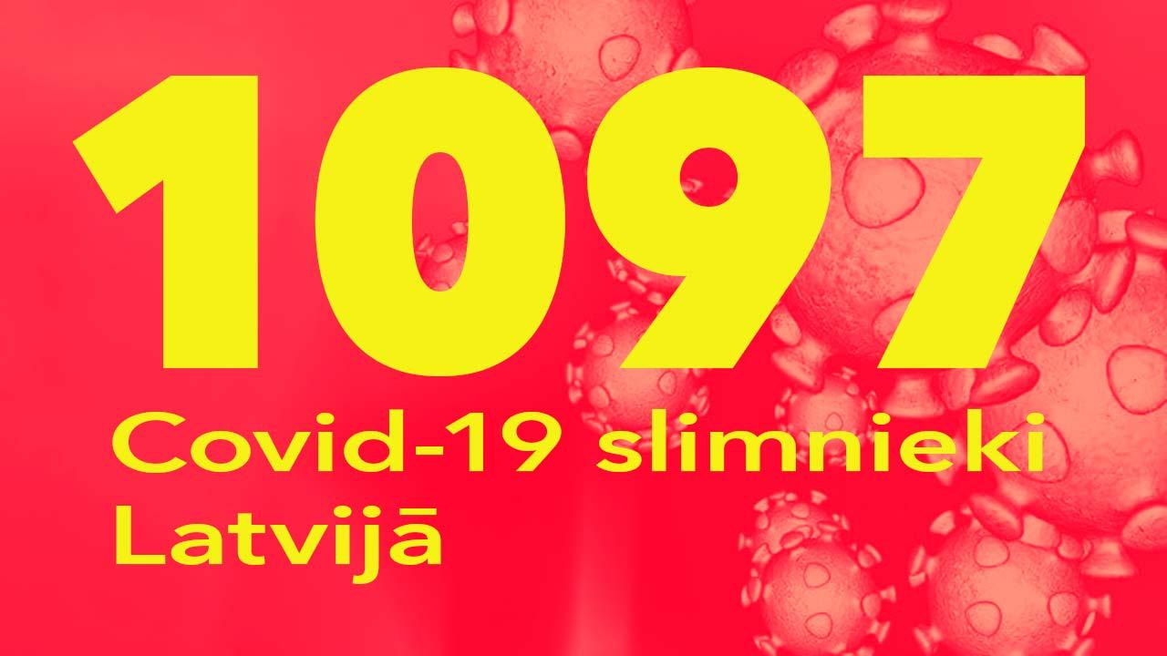 Koronavīrusa saslimušo skaits Latvijā 13.06.2020.