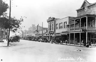 Kerrville's Water Street around 1928