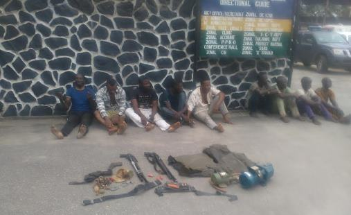 Photos: Police parade suspected militants arrested in Ikorodu