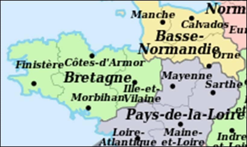 Kaart Frankrijk Departementen Regio S Kaart Frankrijk Bretagne