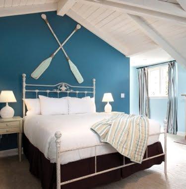 Oar Wall Decor Crossed Above Bed Headboard