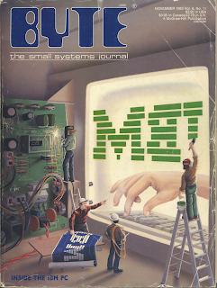 Robert Tinney's cover art leads Byte Magazine's deep dive of the IBM PC.