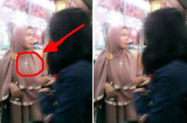 Tolong Di Share Yaa..Wanita Ini Berjilbab Tetapi Mengenakan Salib,Ketika Di Tanya Mengapa,,??jawabanya justru mengejutkan