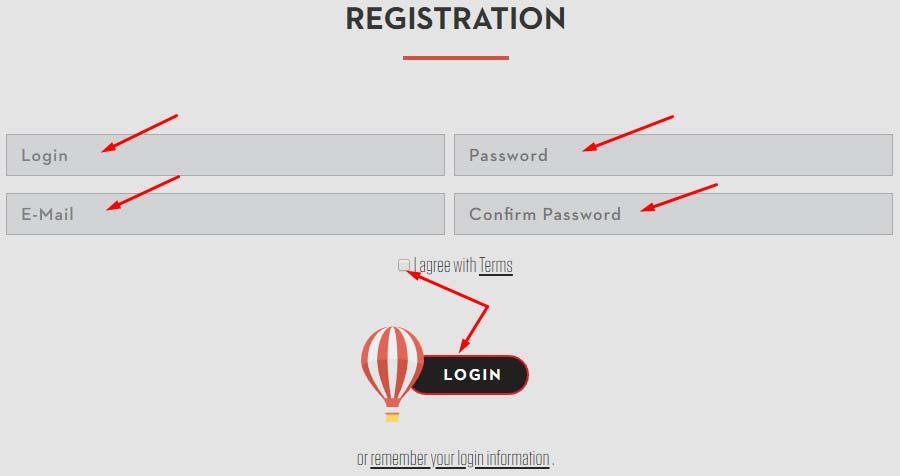 Регистрация в Erlite 2