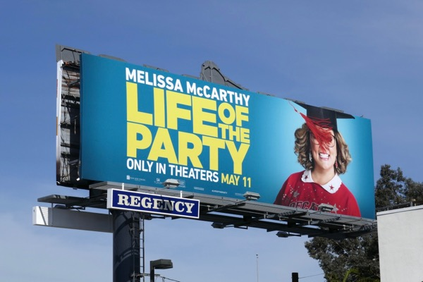 Melissa McCarthy Life of the Party billboard