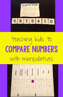 Comparing numbers using manipulatives