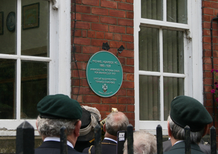 The plaque unveiled at Bloemfontain School (Photo by Durham County Record Office)