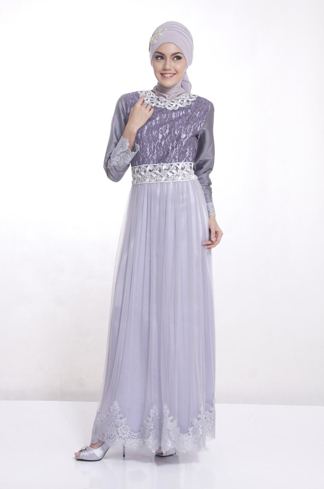 Kumpulan Gambar Baju Muslim Gamis Modern Pesta untuk Ibu Hamil-BNews