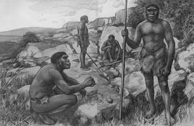 Reconstrucción de Homo rhodesiensis (http://www.gutenberg.org/files/20417/20417-h/20417-h.htm)