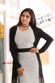 Telugu Actress Karunya Chowdary Stills in Black Dress at Soda Goli Soda Movie Opening  0129.JPG