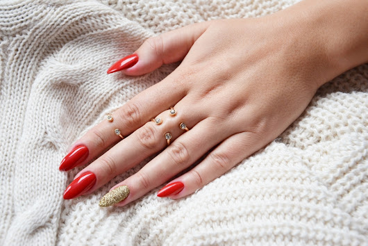 RED-A-PORTER BY NATALIA SIWIEC INDIGO NAILS LAB + EFEKT SZRONU || PROTEIN BASE, LAKIER HYBRYDOWY RED-A-PORTER, METAL MANIX LIGHT GOLD, CRYSTAL TOP COAT