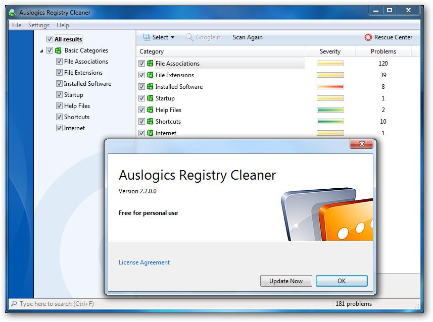 كشف وإصلاح الأخطاء في registry