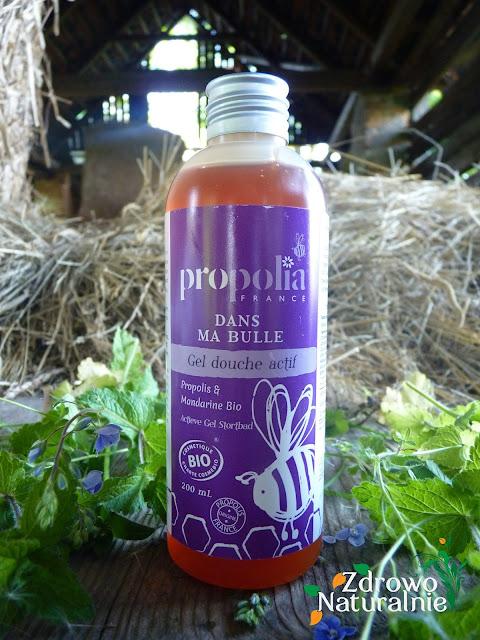 BeeYes - Propolia - Organiczny i aktywny żel pod prysznic propolis i mandarynka