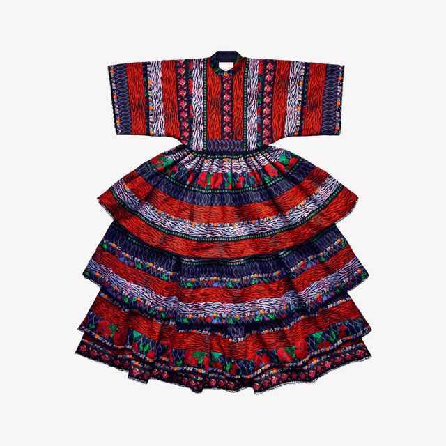 Kenzo x H&M Patterned printed dress