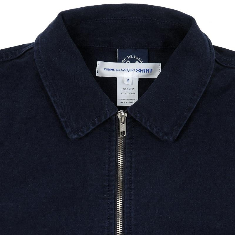 7430778ed51 WEAR DIFFERENT  Comme Des Garçons SHIRT x Bleu de Paname Zip Up Jacket