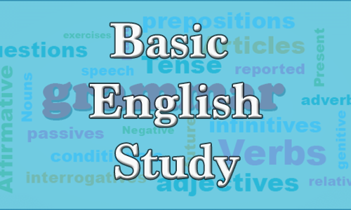 English grammar basic study