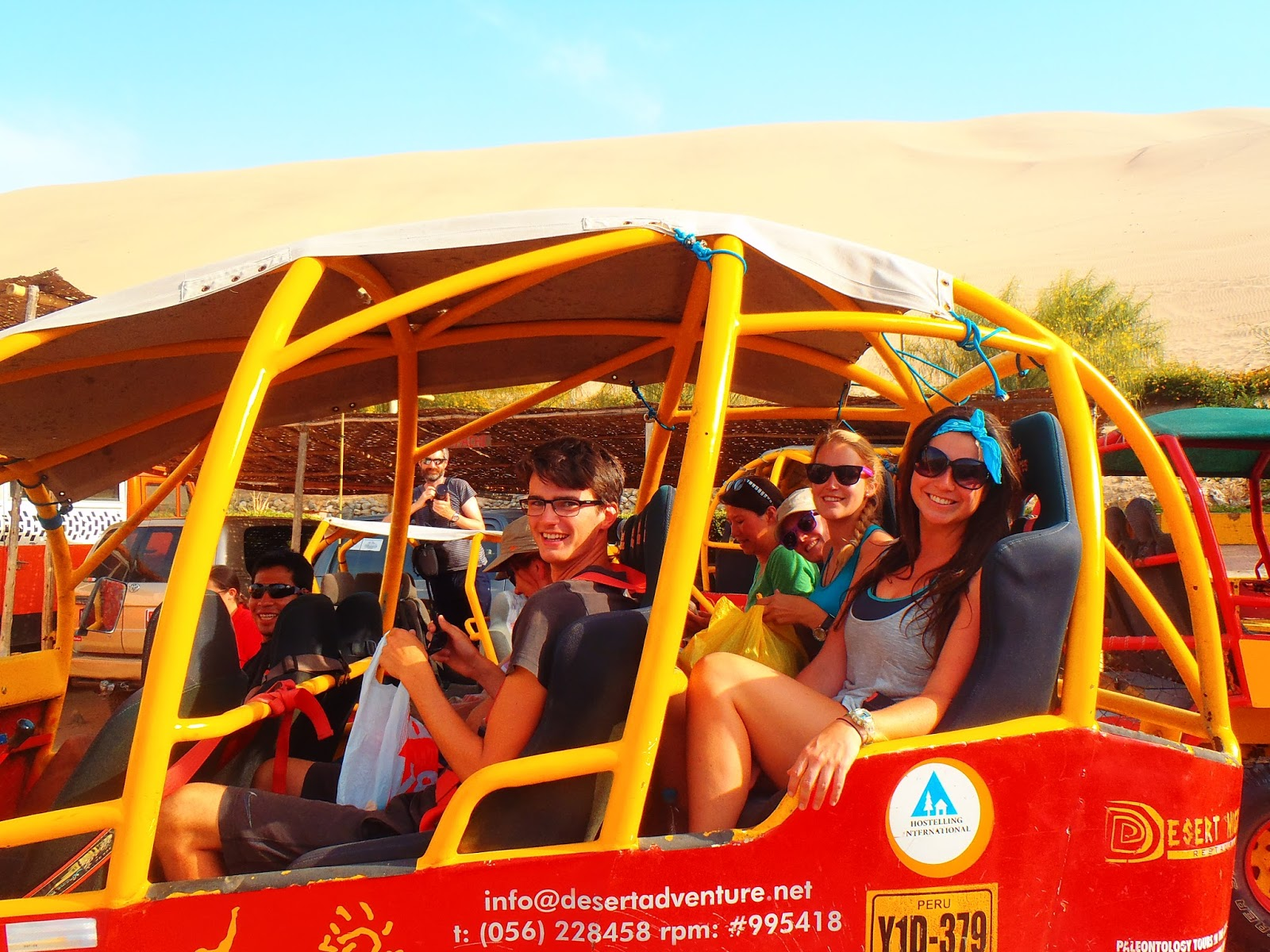 Intrepid Group in Dune Buggy Huacachina