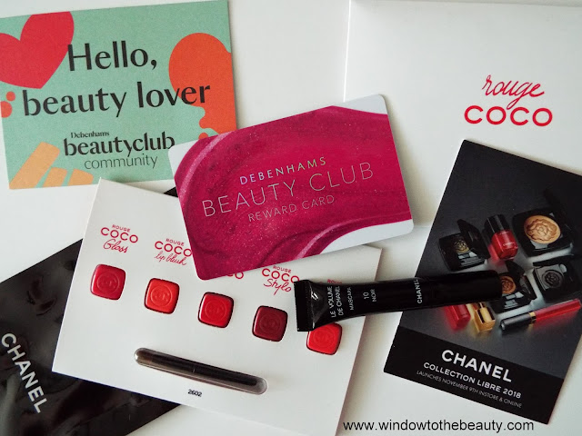 Beauty Club Debenhams free samples