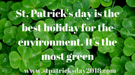 Happy St Patrick's day lucky quotes 2018