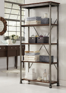multifunctional modular shelving unit ideas and round vanity mirror plus wooden cabinets