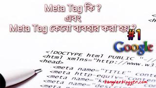Meta Tag কি ? এবং Meta Tag কেনো ব্যবহার করা হয় ?