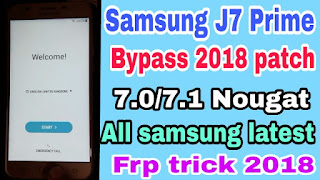 Samsung J7 Prime SM-G610F Frp Bypass app latest Free download