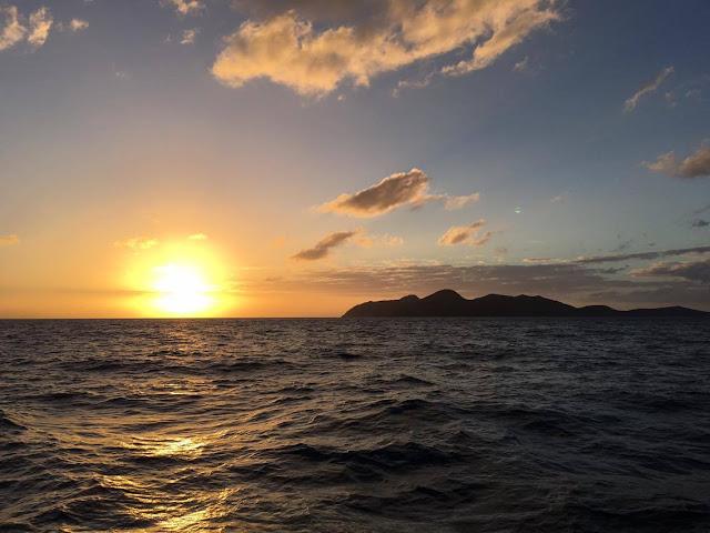 Coucher de soleil dans les Whitsundays