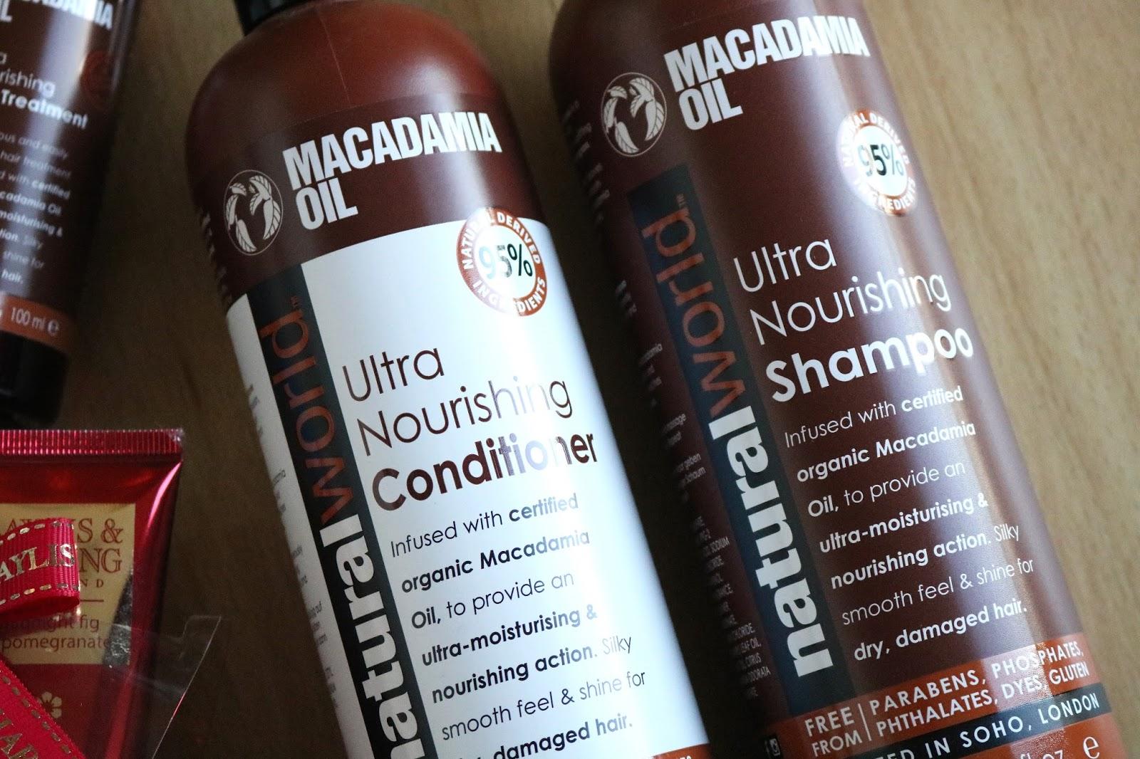 natural world macadamia oil shampoo and conditioner