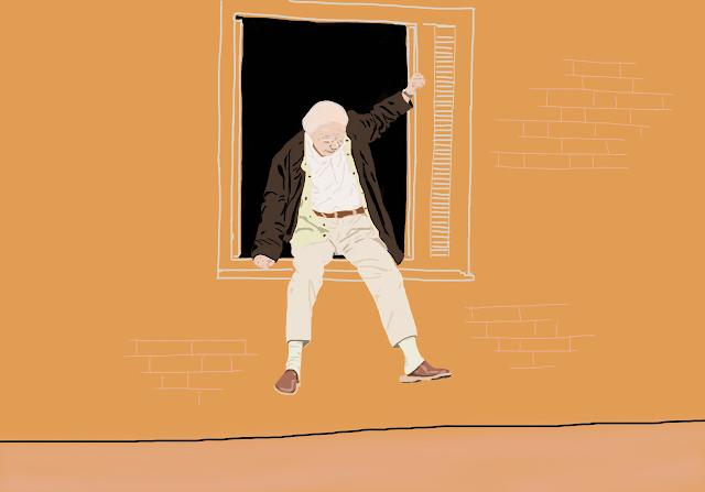 sách về ông lão Allan Karlsson trèo qua cửa sổ và trốn thoát ngay trong sinh nhật của mình