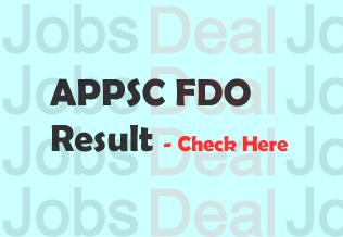APPSC FDO Result 2017