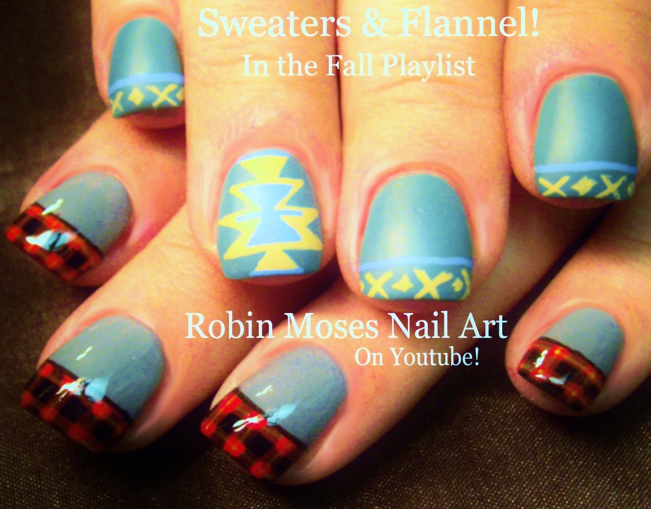 Nail Art by Robin Moses: Sweaters and Plaid Flannel Nails up for ...