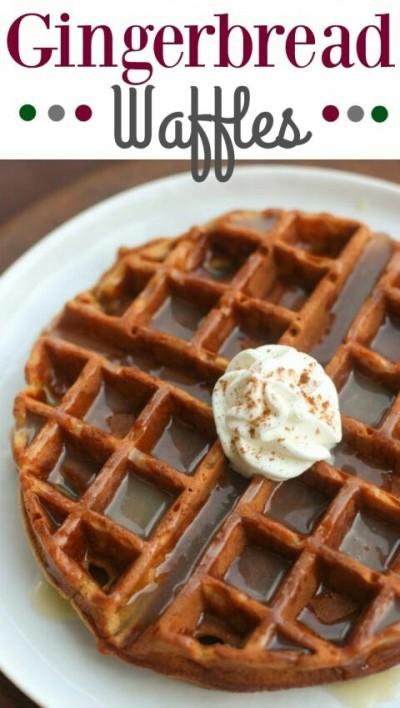 5. Waffle dari adonan kue jahe, atau kue jahe bentuk waffle