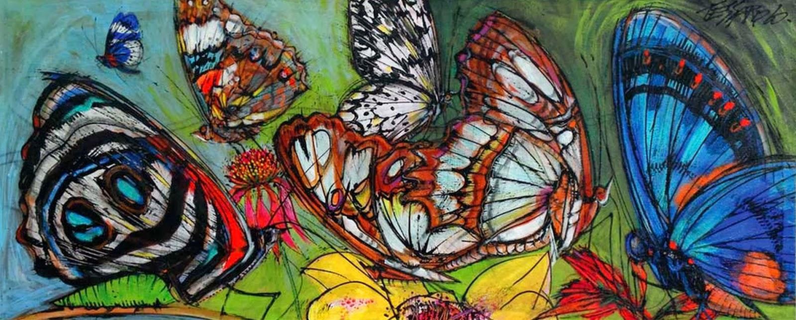 Cuadros modernos pinturas y dibujos pintados a mano - Murales de pared pintados a mano ...
