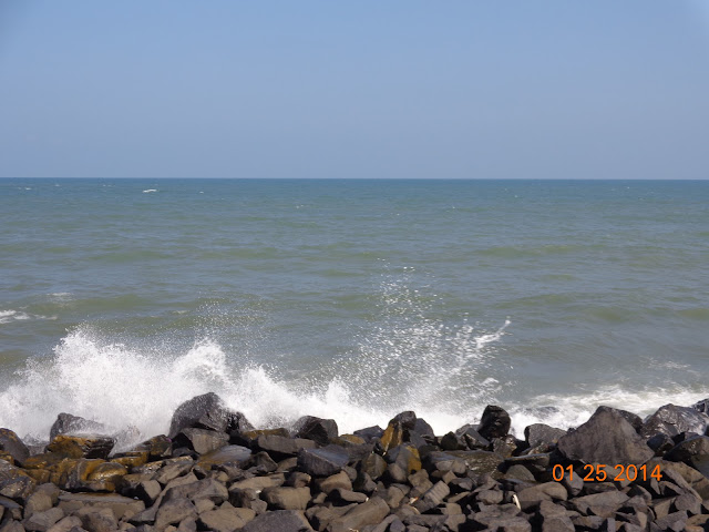 Black rocky beach pondicherry