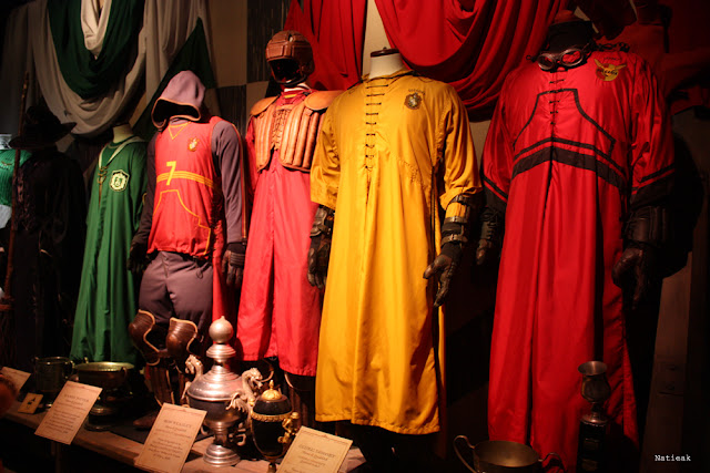 tenues de Quidditch exposition Harry Potter