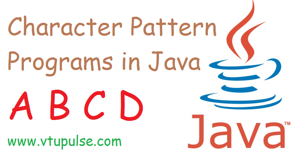 A to Z character pattern programs in java part 1