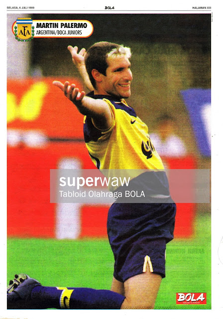 MARTIN PALERMO BOCA JUNIORS 1998