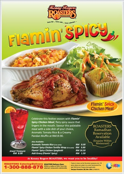 Promosi Ramadhan - Kenny Rogers Flamin' Spicy Chicken Meal