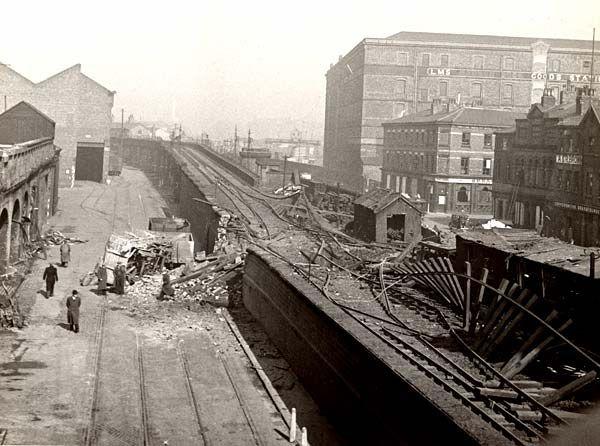 12 March 1941 worldwartwo.filminspector.com Liverpool overhead railway bomb damage