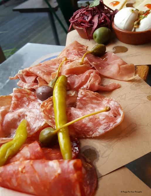 Meat Plank at Jamie's Italian Birmingham