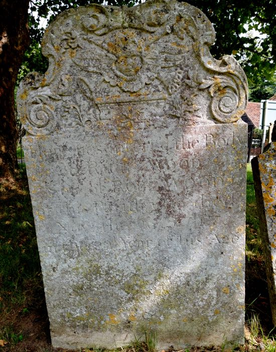 The second tombstone in Dorothy Colville's article photographed in August 2018  Image by the North Mymms History Project, released under Creative Commons BY-NC-SA 4.0