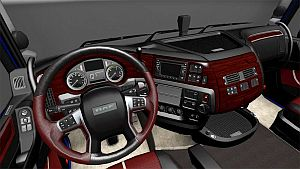 Red Wood interior skin for DAF E6