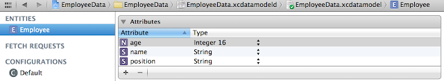 iOS core data entity and attributes